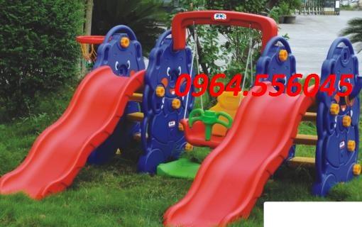 Bộ cầu trượt kép con voi Mã DK 012-1