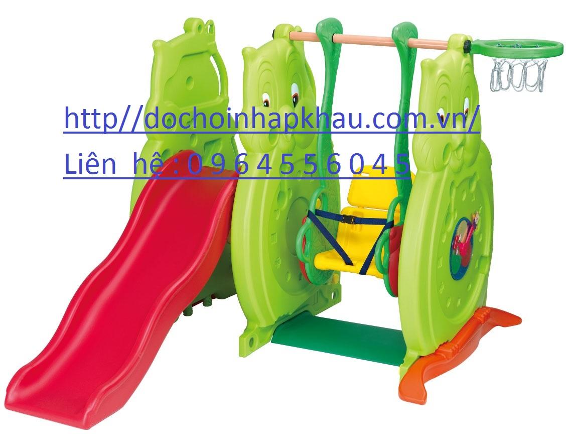 Cầu trượt xích đu con cú mèo Mã DK009-1