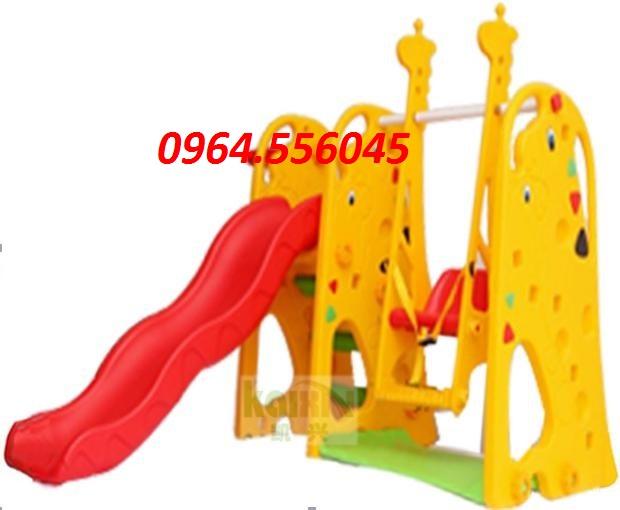 Cầu trượt xích đu con hươu Mã DK0091-1
