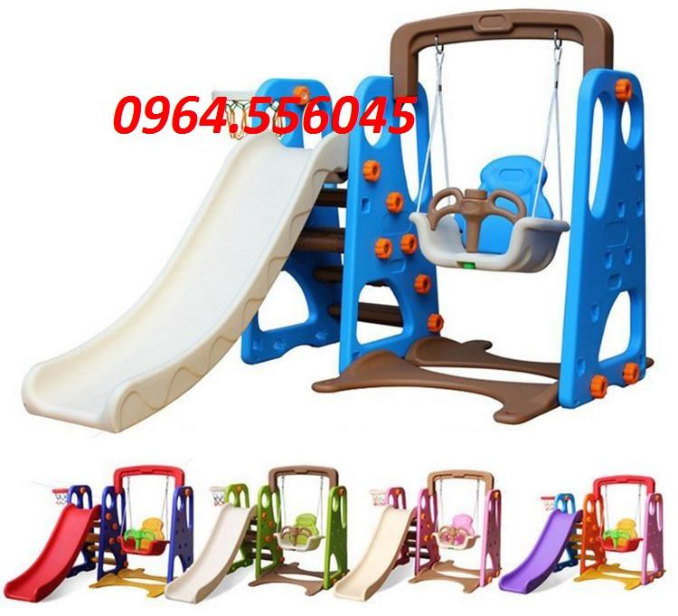 Cầu trượt xích đu nhiều màu sắc Hàn Quốc  Mã DK 16-1